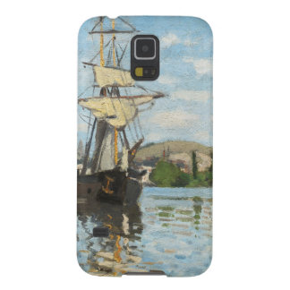 Protection Galaxy S5 Bateaux de Claude Monet | montant sur la Seine à