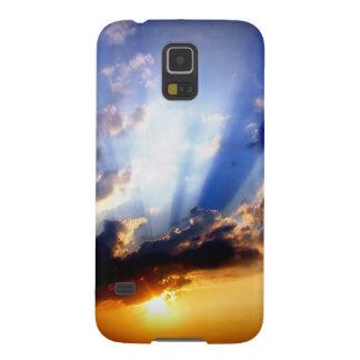 Protection Galaxy S5 Coucher du soleil avec des nuages, beau ciel