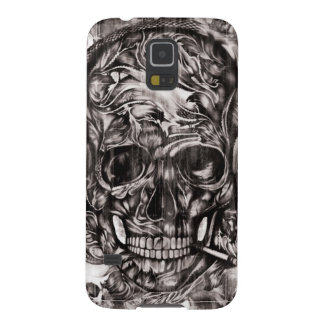 Protection Galaxy S5 Crâne avec l'illustration tirée par la main
