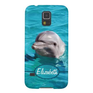 Protection Galaxy S5 Dauphin en photo de l'eau bleue