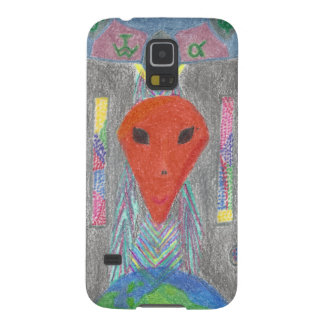 Protection Galaxy S5 Le cas intelligent étranger de dispositif de la