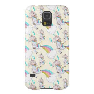Protection Galaxy S5 Motif tiré par la main mignon de licorne