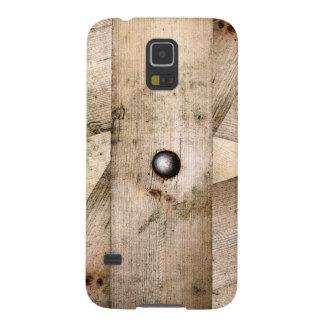 Protection Galaxy S5 Planches et caisse en bois de la galaxie S5 de