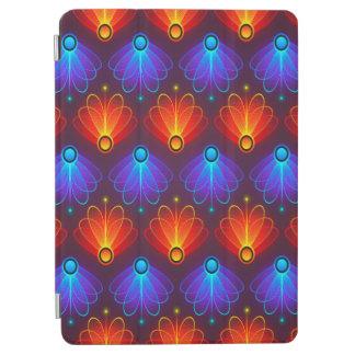 Protection iPad Air Ailes bleues et oranges abstraites à la mode