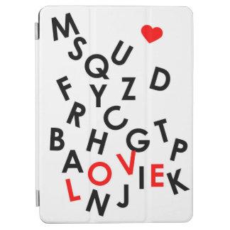 Protection iPad Air alphabet avec le mot : amour