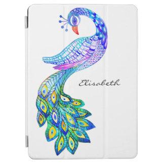 Protection iPad Air Aquarelle bleue de paon