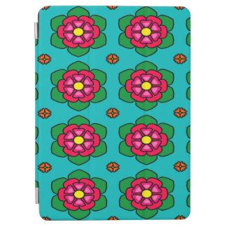 Protection iPad Air Arrière - plan floral sans couture de bleu de