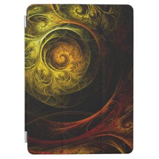 Protection iPad Air Art abstrait rouge floral de lever de soleil
