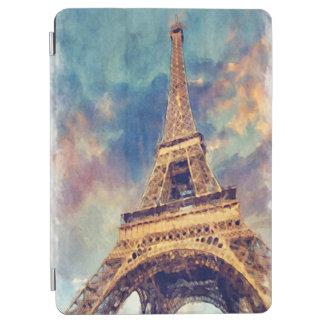 Protection iPad Air Art en pastel mignon d'aquarelle de Tour Eiffel