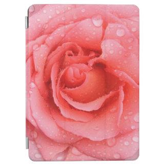 Protection iPad Air Baisses roses rouges romantiques de l'eau rose