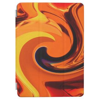 Protection iPad Air Beau remous coloré d'or d'art abstrait