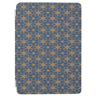 Protection iPad Air Bleu abstrait et motif de papier peint de Brown