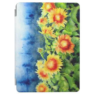 Protection iPad Air Brume de matin - peinture d'aquarelle - tournesols