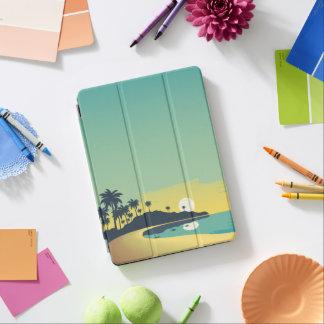 Protection iPad Air Caisse d'air de plage d'iPad serein de coucher du