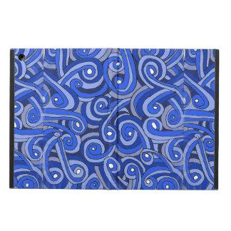 Protection iPad Air caisse d'air d'iPad avec des griffonnages bleus