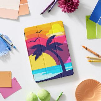 Protection iPad Air Caisse d'air d'iPad tropical coloré de coucher du