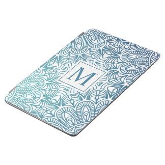 Protection iPad Air Caisse florale élégante d'air du monogramme | Ipad