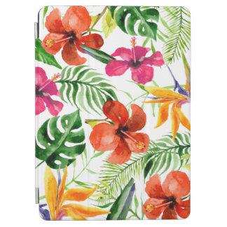 Protection iPad Air Caisse florale tropicale d'air d'iPad d'aquarelle