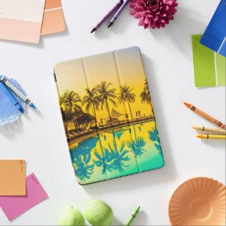 Protection iPad Air Caisse tropicale colorée d'air d'iPad de palmiers
