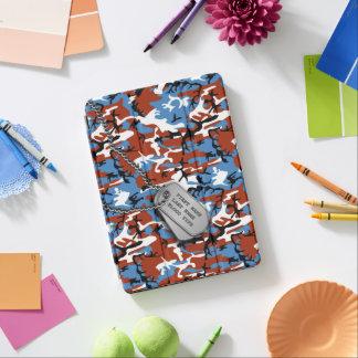 Protection iPad Air Camo patriotique avec des étiquettes de chien