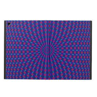 Protection iPad Air Cercles géométriques bleus et rouges