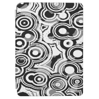 Protection iPad Air Cercles noirs et blancs d'art d'abstraction