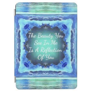 Protection iPad Air Citation turquoise de réflexion de beauté de bleu