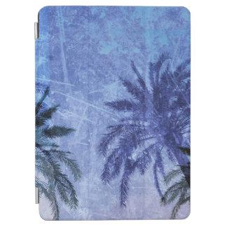 Protection iPad Air Conception grunge d'art numérique de palmier bleu