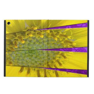 Protection iPad Air Conception jaune de panneau de la fleur quatre