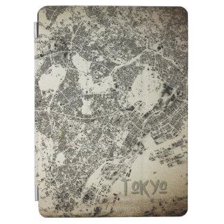 Protection iPad Air Conception vintage de carte de bâtiments de rues