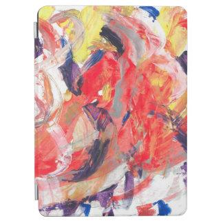 Protection iPad Air Courses colorées d'art d'abstraction