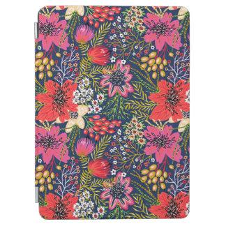 Protection iPad Air Couverture d'air florale lumineuse vintage d'iPad