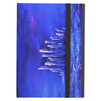 Protection iPad Air Couverture d'air urbaine bleue d'ipad par Jane