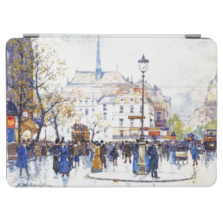 Protection iPad Air Couverture d'iPad de scène de rue d'impressionisme