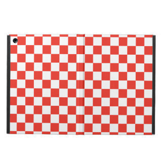 Protection iPad Air Damier rouge