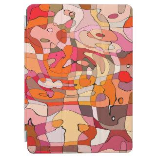 Protection iPad Air Découpes rouge-brun artistiques de motif abstrait