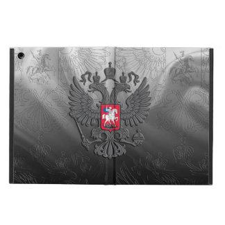 Protection iPad Air Drapeau russe d'aigle de double de symbole