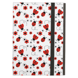 Protection iPad Air Fille rouge de Madame Bug White Floral Teen de