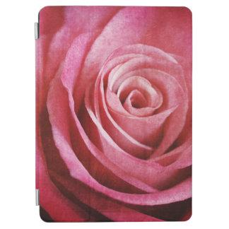 Protection iPad Air Fleur de rose de rose avec la texture grunge