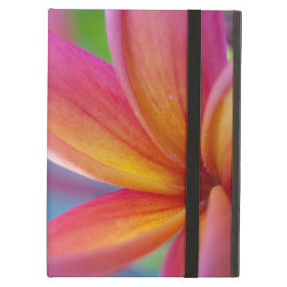Protection iPad Air Fleur tropicale rose-foncé jaune-orange de