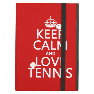 Protection iPad Air Gardez le calme et aimez le tennis