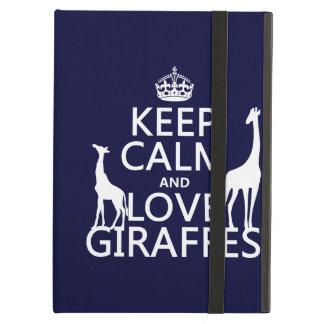 Protection iPad Air Gardez le calme et aimez les girafes - toutes les