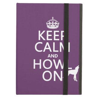 Protection iPad Air Gardez le calme et hurlez sur (loups) (toute