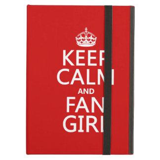 Protection iPad Air Gardez le calme et la fille de fan (dans toutes