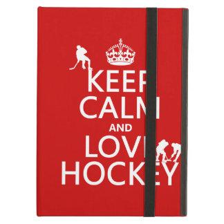 Protection iPad Air Gardez le calme et l'hockey dessus