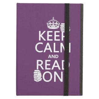 Protection iPad Air Gardez le calme et lisez sur (dans toute couleur)