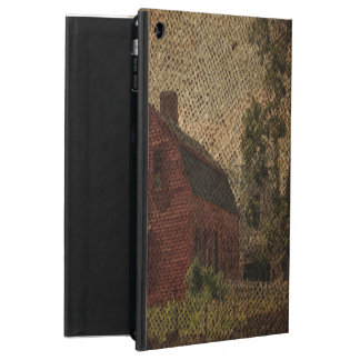 Protection iPad Air Grange primitive de rouge de ferme de pays de