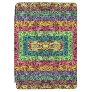 Protection iPad Air Grille géométrique de rectangles abstraits colorés