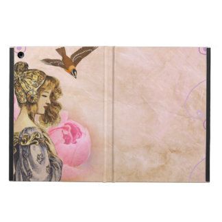 Protection iPad Air Image vintage de rose de rose de femme