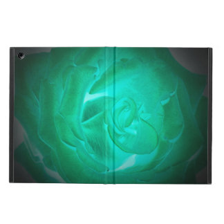 Protection iPad Air images des roses de turquoise, lueur d'imitation